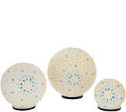 Casa Zeta-Jones Set of 3 Light Up Spheres - H215425