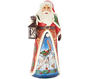 Jim Shore Heartwood Creek Oversized Santa w/ Lit Lantern - H217025