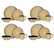 Mikasa Gourmet Basics Ridgewood Taupe 16-pc Dinnerware Set - H283925