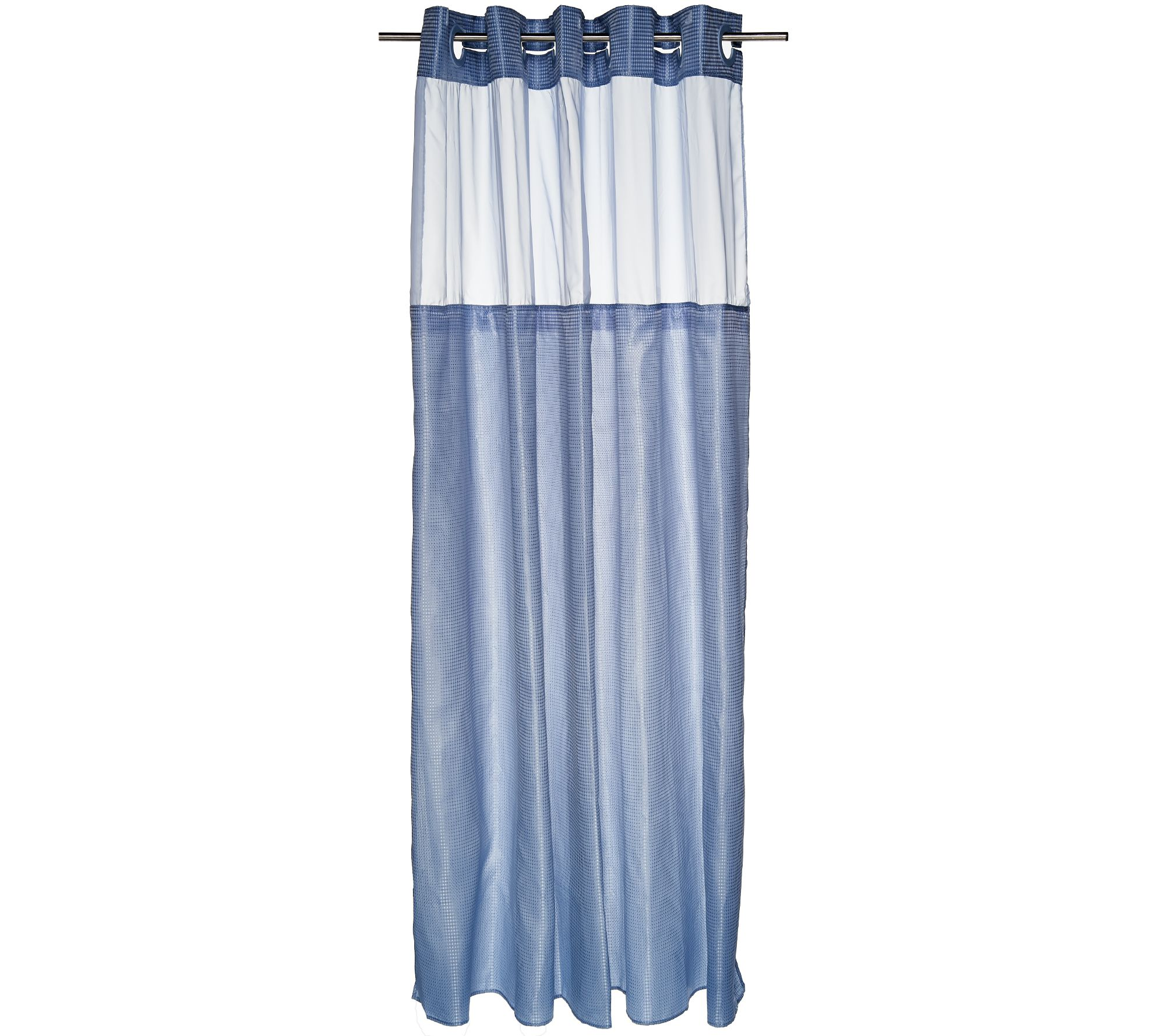 EZ-On Diamond Dobby Shower Curtain with Liner - Page 1 — QVC.com