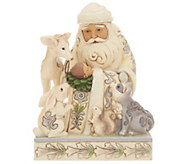 Jim Shore Heartwood Creek White Woodland Santa with Baby Jesus - H217226