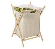 Honey-Can-Do Folding Wooden Hamper - H356426