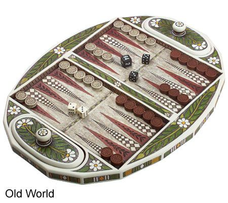 Choice of tudor or old world backgammon sets qvc publicscrutiny Images