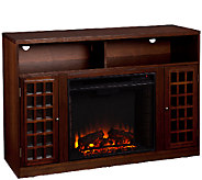 Bergen Espresso-Finish Media Console with Electric Fireplace - H171727