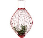 Plow & Hearth Indoor/Outdoor 22 Illuminated Adjustable Wire Holiday Lantern - H211427