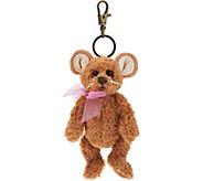 Charlie Bears Collectible Tan 5 Plush Keyring Bear - H212827