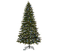 Scott Living 9 Snow Dusted LED Color Flip Fir Tree with 7 Functions - H213927