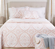 Casa Zeta-Jones Cotton Reversible Twin Quilt w/ Sham & Storage Bin - H215527