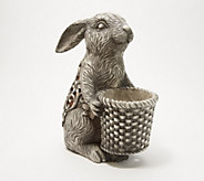14 Illuminated Indoor/Outdoor Bunny with Planter Basket - H218427