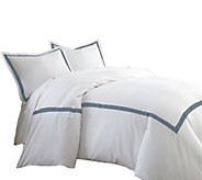 Pacific Coast Textiles 600TC QN 3-Piece Satin Ribbon Duvet Set - H294327