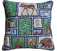Lodge Sampler 18 x 18 Tapestry Decorative Pillow - H349327