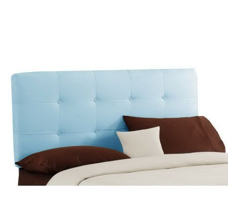 Skyline Furniture Tufted Ultrasuede Button Queen Headboard Page 1