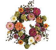 24 Mixed Peony Wreath by Nearly Natural - H179228