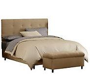 Skyline Furniture Ultrasuede Twin Headboard & Storage Bench - H187228