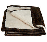Dennis Basso Faux Suede Throw with Faux Sherpa Lining - H201128