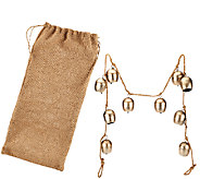 ED On Air 5 Metal Bell Garland with Burlap Bag by Ellen DeGeneres - H205928