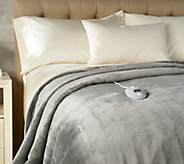 Perfect Fit Invisiwire Velvet Plush Heated Queen Blanket - H213128
