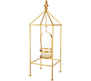 Scott Living 20 Metal Lantern with Hanging FlamelessCandle - H213828
