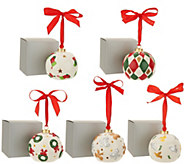 Lightscapes S/5 Illuminated Porcelain Ornaments with Gift Boxes - H216228