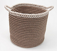 Scott Living 15 x 15 x 15 Houndstooth Trim Basket - H218928