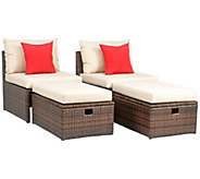 Telford Outdoor Set with Ottoman by Safavieh - H371728