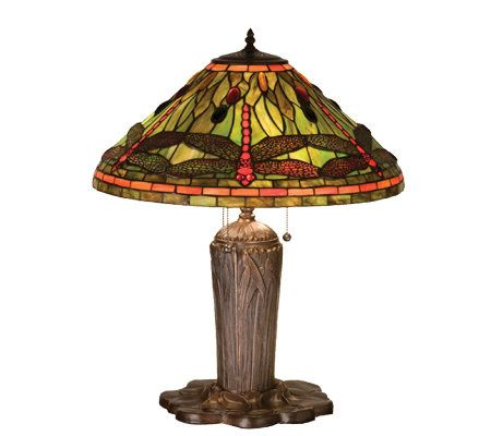 Tiffany Style Dragonfly Table Lamp Qvc Com
