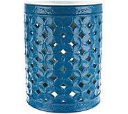 Illuminated 18 Indoor/ Outdoor Ceramic Accent Table by Valerie - H213529