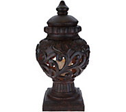 Indoor/Outdoor 24 Scroll Urn with Flameless Candle - H216529