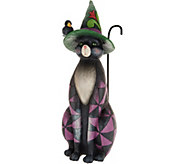 Jim Shore Heartwood Creek Oversized Black Cat Statue 20 - H217229
