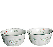Pfaltzgraff Winterberry Sentiment Dessert Bowls, Set of 2 - H287129