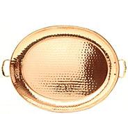 Old Dutch International Copper Oval Tray w/ Cast Brass Handle - H288129