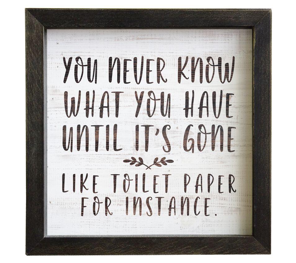 Bathroom Humor Framed Wall Art Qvc Com