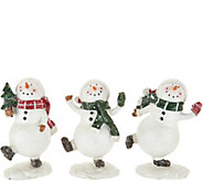Set of (3) 5 Snowmen with Decorative Accents by Valerie - H211830