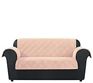 Sure Fit Love Seat Textured Pique Waterproof Furniture Cover - H216330