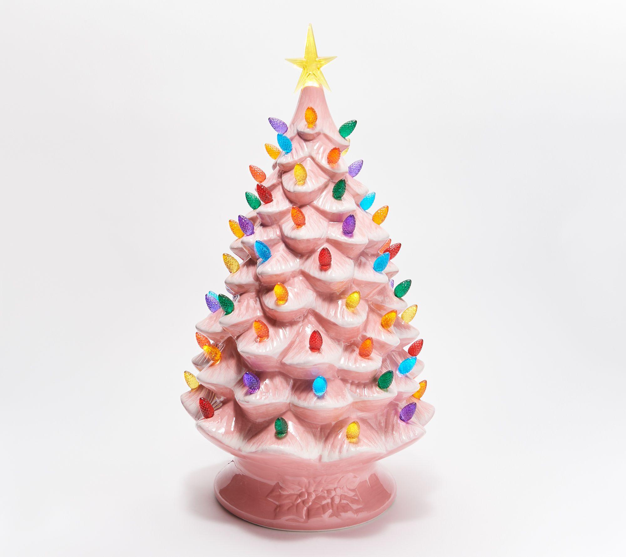 Mr Christmas 24 Oversized Plug In Nostalgic Tree Qvc Com