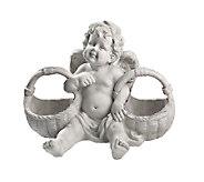 Design Toscano Basket of Treats Cherub Statue - H284430