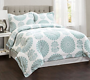 Evelyn 4-Piece Medallion Queen Comforter Set byLush Decor - H290630