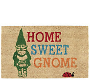 Home Sweet Gnome Natural Coir Doormat with Nonslip Back - H313630