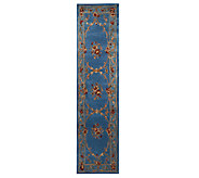 Royal Palace Botanic Scrolls 23 x 9 Handmade Wool Rug - H198031