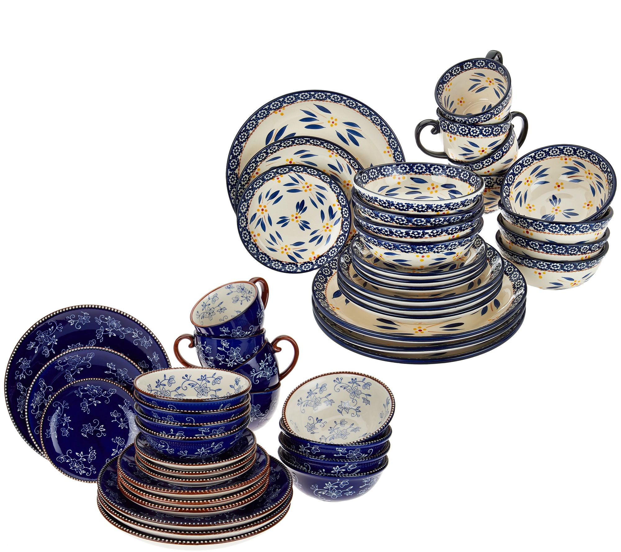 Temp-tations 24-piece Old World or Floral Lace Dinnerware Set — QVC.com