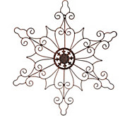 Plow & Hearth Indoor/Outdoor 32 Metal Snowflake Wall Decor - H211431