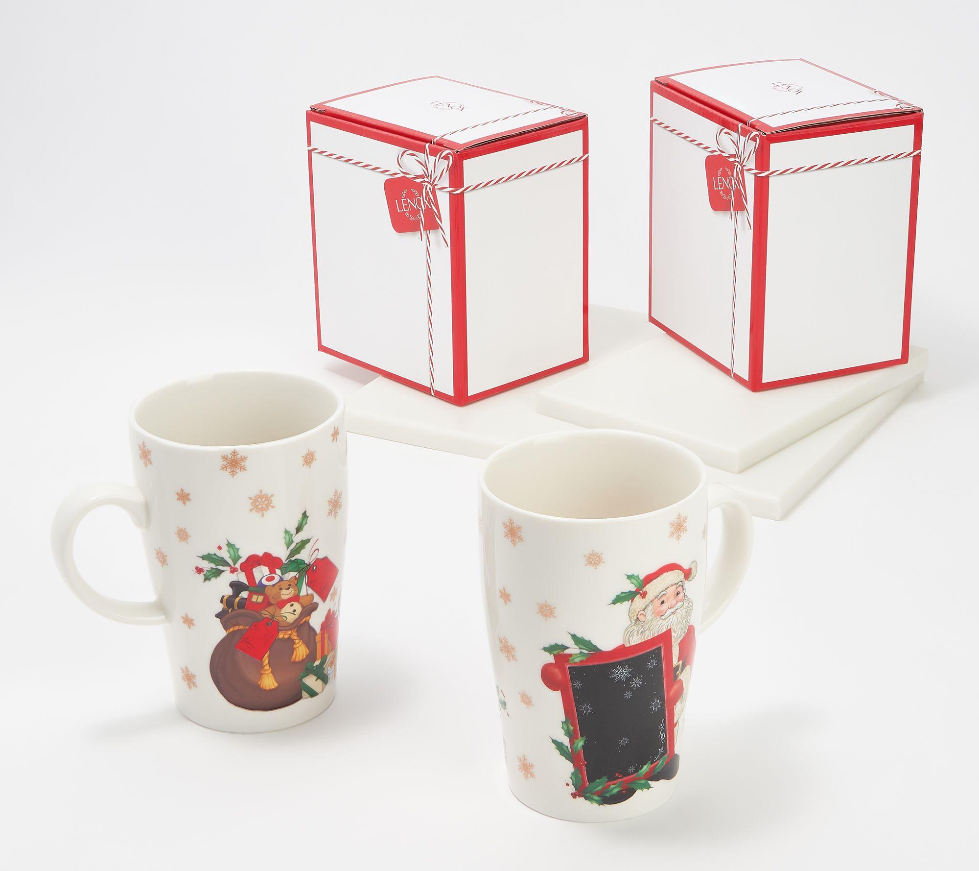 "Lenox Heat Changing Magic Mug Gingerbread Man 16 Oz Coffee Cup Color Change 5"""