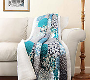 Briley Turquoise Sherpa Throw by Lush Decor - H287831