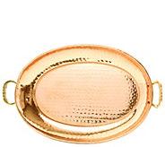 Old Dutch International Copper Oval Tray w/ Cast Brass Handle - H288131