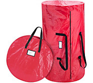 Elf Stor Red Christmas Tree & Wreath Combo Storage Bag - H301231