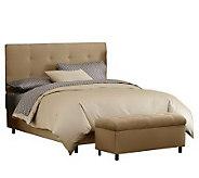 Skyline Furniture Ultrasuede Queen Headboard and Storage Benc - H187232