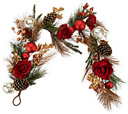 4 Velvet Rose, Berry, and Pinecone Garland - H209932