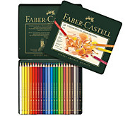 Faber-Castell Polychromos 24-Piece Colored Pencil Set with Ti - H288932