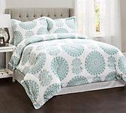 Evelyn 4-Piece Medallion King Comforter Set byLush Decor - H290632