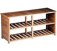 Honey-Can-Do Bamboo Shoe Bench - H367432